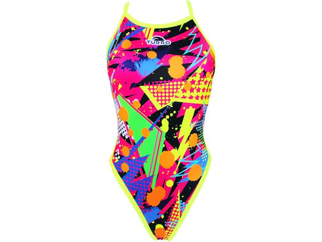 Turbo Revolution Pop Party Swimsuit Women Yellow